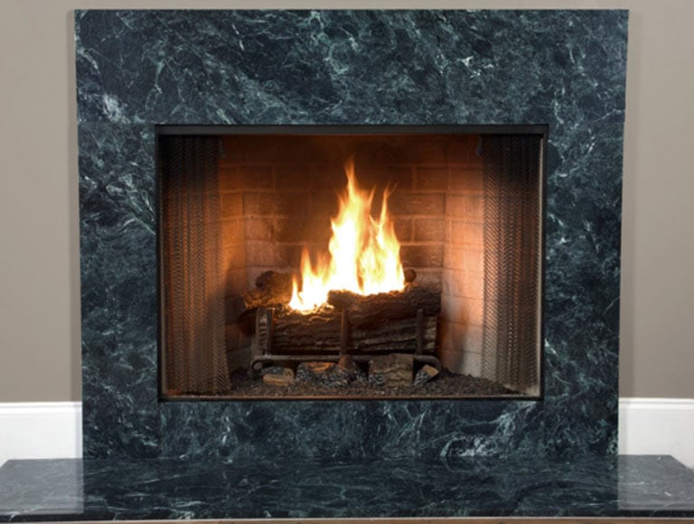granite fireplace installation