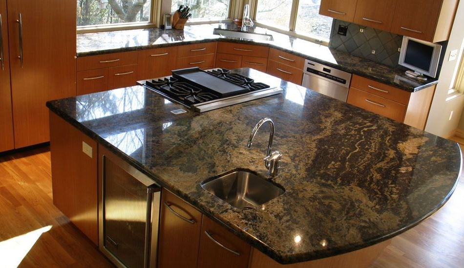 Granite kitchen island Streamwood